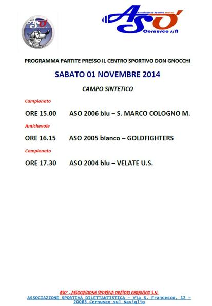O.SA.L. NOVATE vs. Under 19 Provinciale