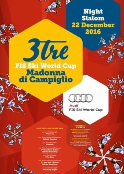 Coppa del Mondo di Slalom Speciale sulla 3TRE a Madonna di Campiglio