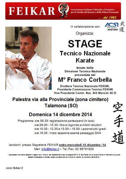 Stage tecnico nazionale Karate