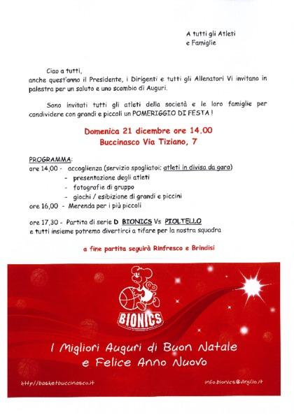 FESTA DI NATALE BIONICS