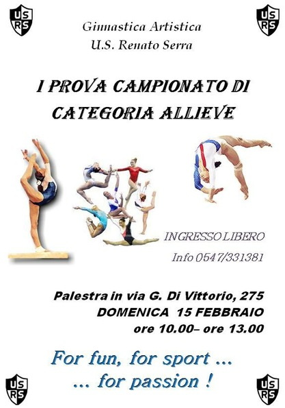 Campionato di categoria allieve 1° prova regionale