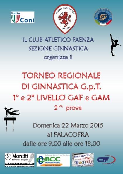 Torneo GPT 1°-2° liv. di Ginnastica Artistica femminile e maschile