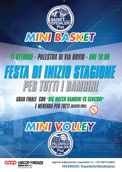 Minivolley e minibasket in via Bovio
