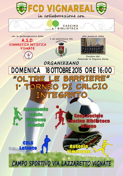 1° Torneo di calcio integrato a Vignate