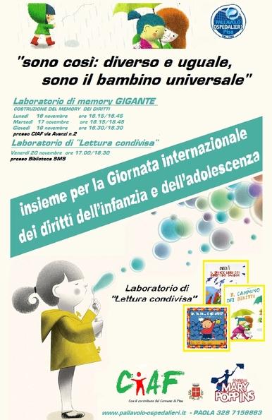 Giornata Internazionale dei Diritti dei Bambini e Adolescenti
