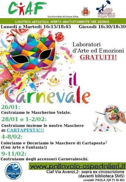 Laboratori e festa di Carnevale