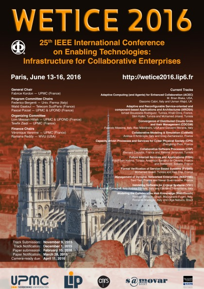 25th IEEE International Conference on Enabling Technologies: Infrastructure for Collaborative Enterprises - WETICE 2016
