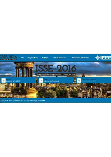 Second IEEE International Symposium on Systems Engineering (ISSE)