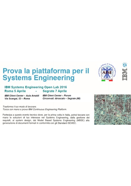 IBM Systems Engineering Open Labs - Prima Sessione