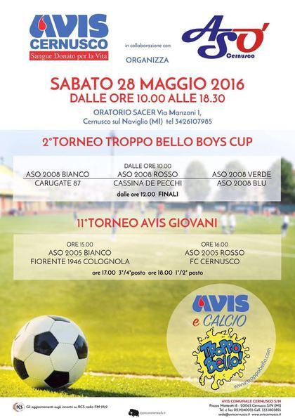 Trofeo Troppo bello boys cup e AVIS giovani