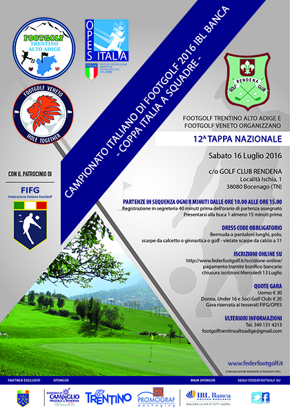 12^ Tappa Nazionale FIFG/OPES 2016