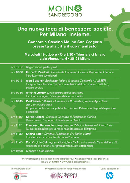 UNA NUOVA IDEA DI BENESSERE SOCIALE. PER MILANO, INSIEME.