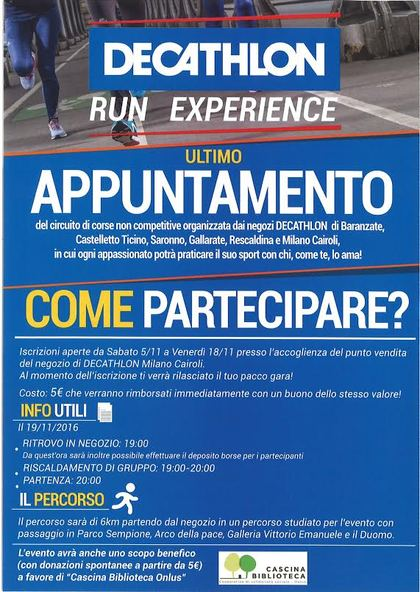 Decathlon run experience