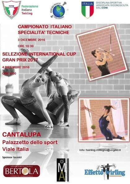 CAMPIONATO ITALIANO SPECIALITÀ TECNICHE