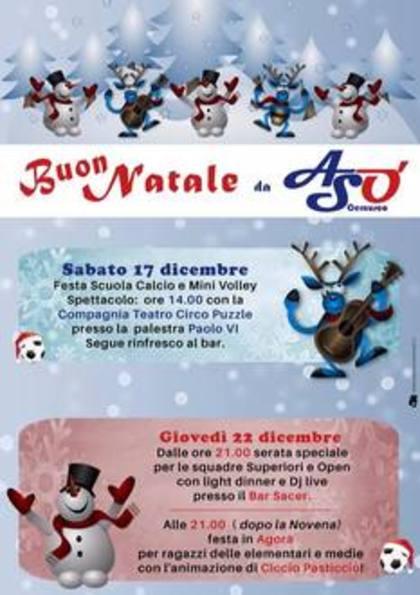 Festa di Natale giovedì 22 dicembre 2016