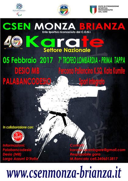 Gara Karate CSEN - 1° tappa Trofeo Lombardia