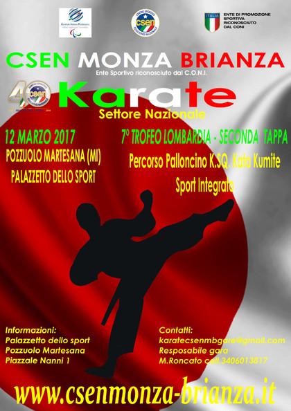Gara Karate CSEN 2° Tappa Trofeo Lombardia