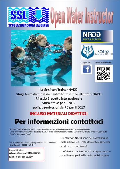 Corso Open Water Instructor NADD