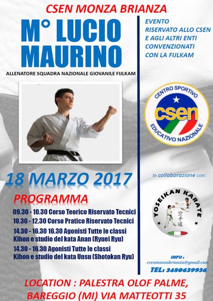 Stage Karate con Maestro Lucio Maurino