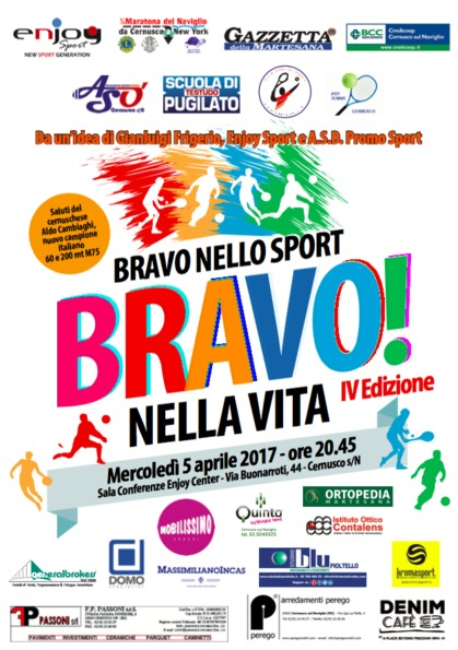 Bravo nello sport Bravo…