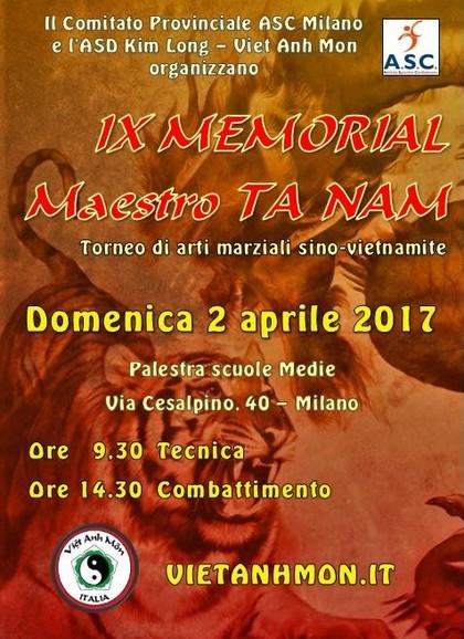 IX MEMORIAL Maestro TA NAM