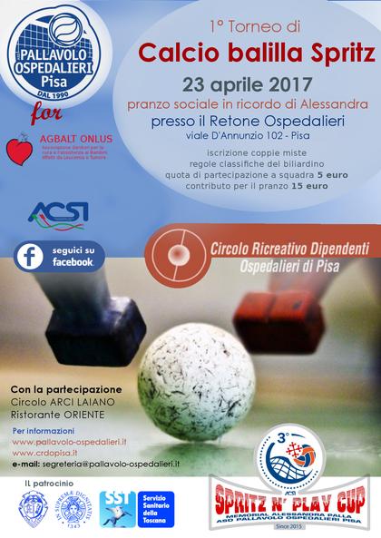 1° Torneo Calcio Balilla e Pranzo Sociale