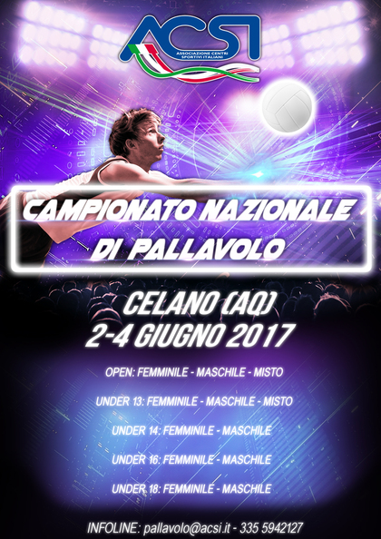 CAMPIONATO NAZIONALE PALLAVOLO 2017