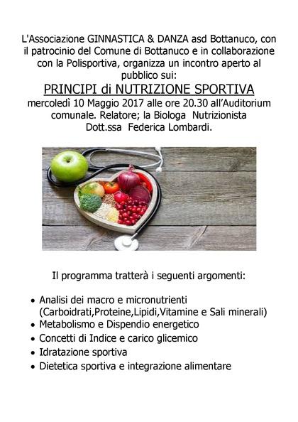 PRINCIPI DI NUTRIZIONE SPORTIVA