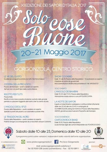 SOLO COSE BUONE: XI edizione dei Sapori d'Italia - 20 e 21 maggio 2017