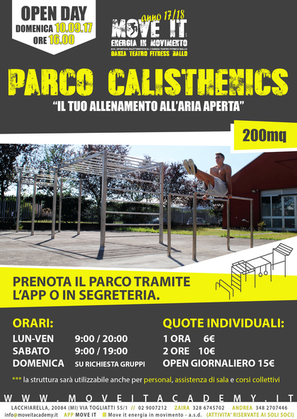OPEN DAY PARCO CALISTHENICS