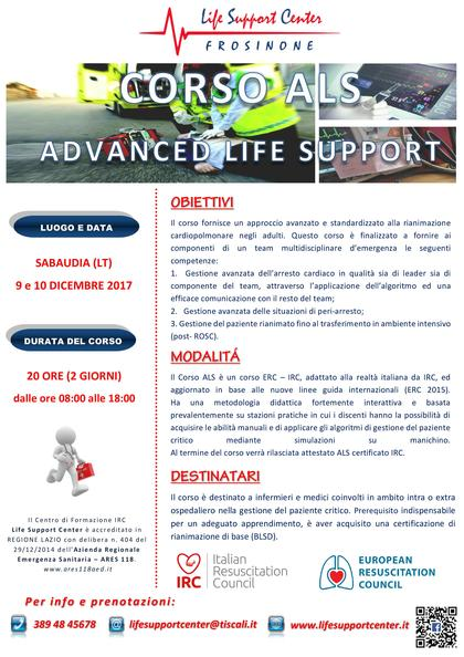 Corso ALS - Advanced Life Support