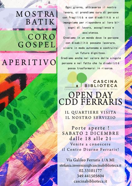 FUORI CASCINA - Open day del CDD Ferraris
