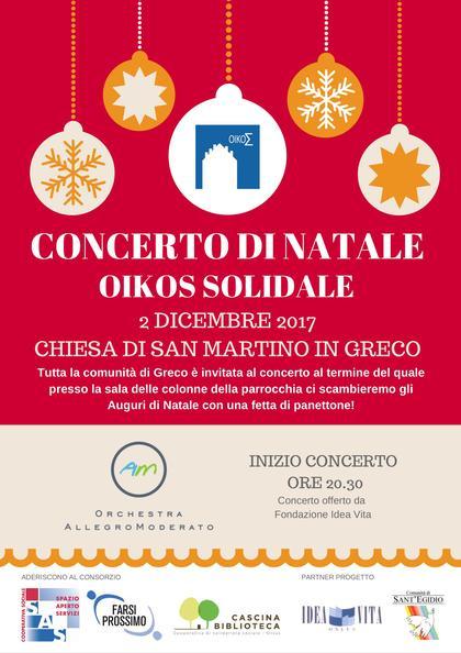 Concerto di Natale Oikos Solidale