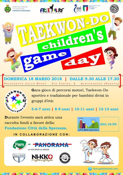 Taekwon-Do Children's Game Day