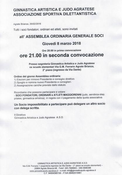 ASSEMBLEA ORDINARIA SOCI - RINNOVO CONSIGLIO