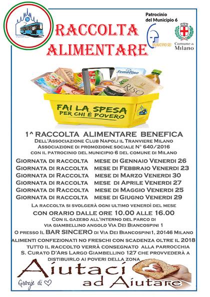 Raccolta Alimentare benefica con il patrocinio del Comune di Milano