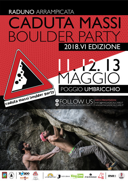 Caduta massi boulder party