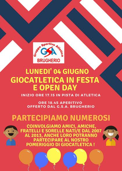 FESTA GIOCATLETICA E OPEN DAY