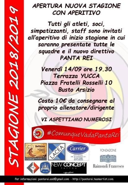 APERITIVO DI INIZO STAGIONE 18/19