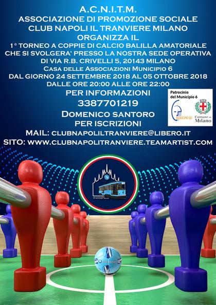 1° Torneo calcio balilla amatoriale