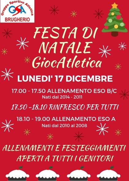 Festa di Natale GiocAtletica