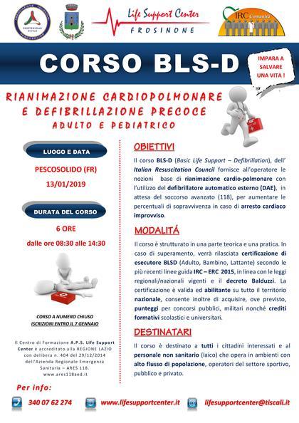 Corso BLSD (adulto e pediatrico) per laici IRC-COM