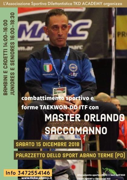 Allenamento con Master Orlando Saccomanno