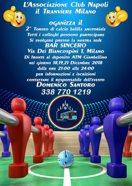 2° Torneo calcio balilla…