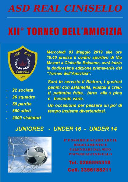 XII° TORNEO DELL'AMICIZIA 2019