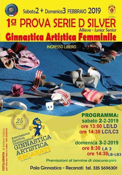 1^Prova Serie D Ginnastica Artistica Femminile