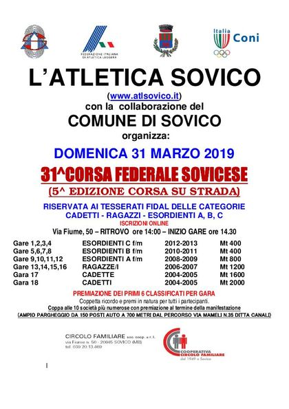31° Corsa Federale Sovicese