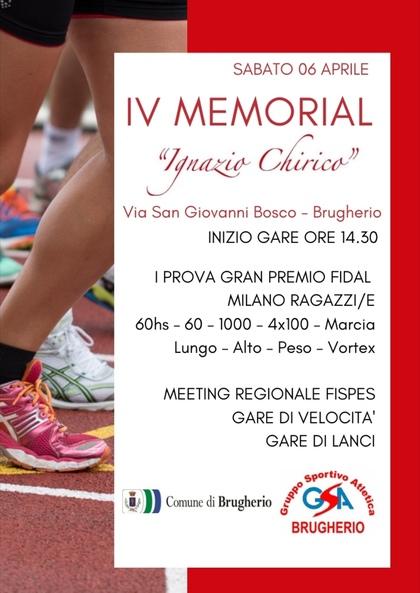 IV MEMORIAL IGNAZIO CHIRICO