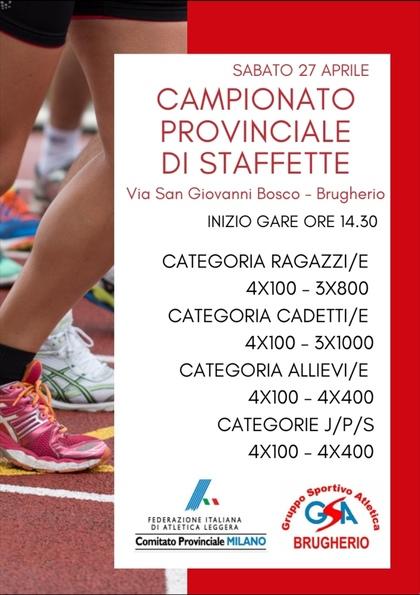 CAMPIONATO PROVINCIALE DI STAFFETTE