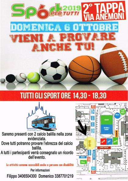 Sport 6 per Tutti 2019